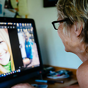Martha Hunt going through photos of her daughter Pip Hunt that she has taken over the course of her life.