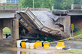 May Ave at NW Expressway Bridge Collapse