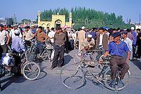 Chine. Province du Sinkiang (Xinjiang). Kashgar (Kashi). Mosquée Id Kah // China. Sinkiang Province (Xinjiang).  Kashgar (Kashi). Id Kah Mosque.