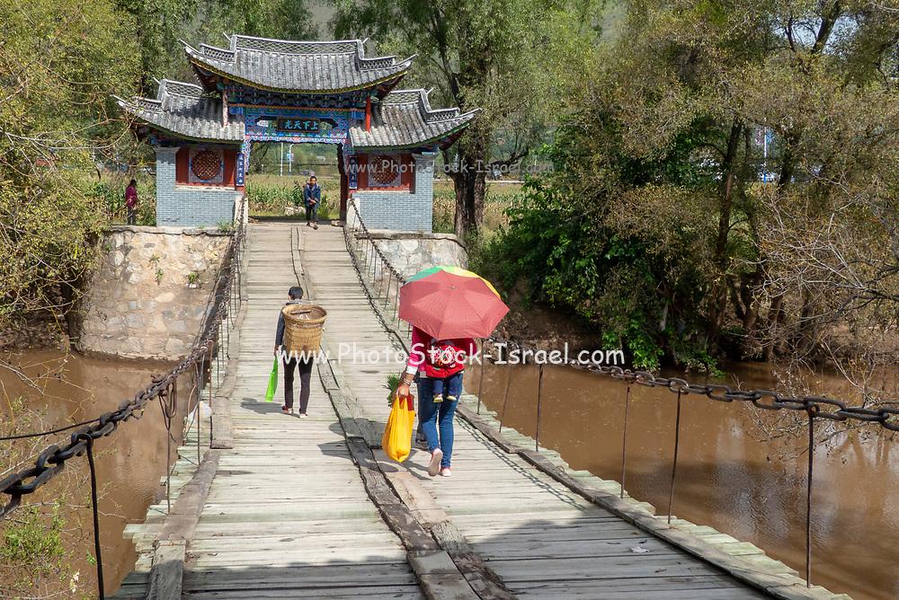 Traditional Bridge in Shigu, Yunlong, Yunnan, China