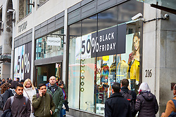 © Licensed to London News Pictures. 23/11/2018. LONDON, UK.  Shoppers in Oxford Street on Black Friday. In this picture: Top Shop.  Photo credit: Cliff Hide/LNP