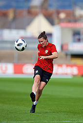 NEWPORT, WALES - Thursday, August 30, 2018: Wales' Helen Ward during a training session at Rodney Parade ahead of the final FIFA Women's World Cup 2019 Qualifying Round Group 1 match against England. (Pic by David Rawcliffe/Propaganda)