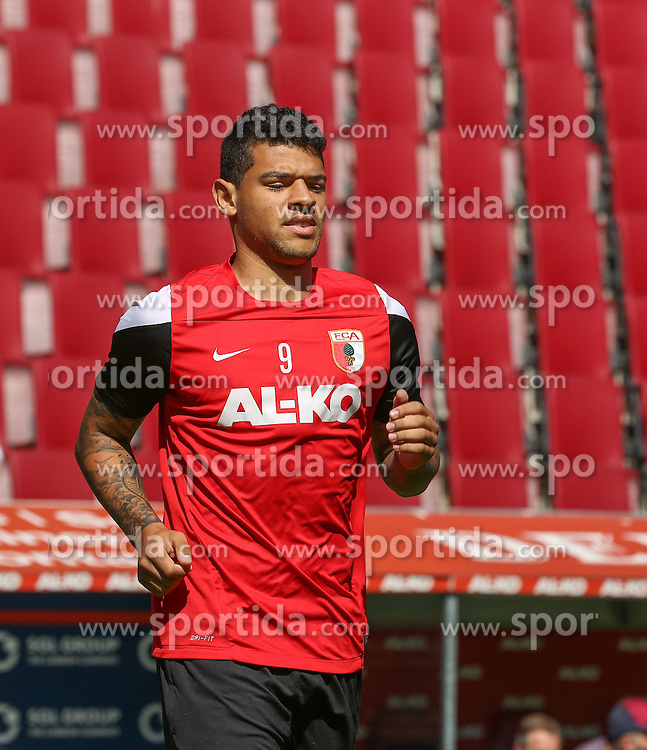 06.07.2014, SGL Arena, Augsburg, GER, 1. FBL, FC Augsburg, Training, im Bild Shawn Parker (FC Augsburg #9), // during a Trainingssession of German Bundesliga Club FC Augsburg at the SGL Arena in Augsburg, Germany on 2014/07/06. EXPA Pictures &copy; 2014, PhotoCredit: EXPA/ Eibner-Pressefoto/ Krieger<br /> <br /> *****ATTENTION - OUT of GER*****