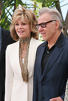 Actress Jane Fonda, Actor Harvey Keitel,  at the Youth film photo call at the 68th Cannes Film Festival Tuesday May 20th 2015, Cannes, France.