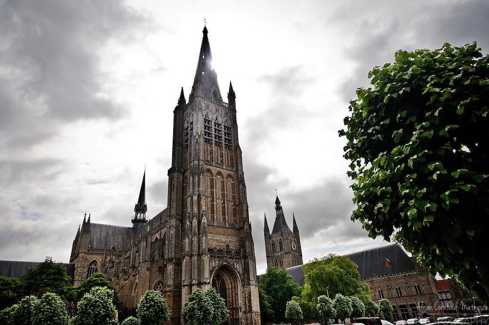 Saint Martin's Cathedral or Sint-Maartenskerk in Dutch is one of the tallest buildings in Belgium.