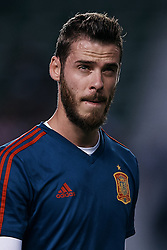 September 11, 2018 - Elche, Alicante, Spain - David De Gea of Spain looks on prior to the during the UEFA Nations League A group four match between Spain and Croatia at Manuel Martinez Valero on September 11, 2018 in Elche, Spain  (Credit Image: © David Aliaga/NurPhoto/ZUMA Press)