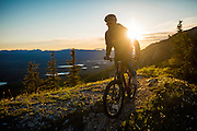 Mountain biking near Whitehorse on the summer solstice.