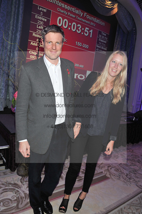 ZAC GOLDSMITH and ALICE ROTHSCHILD at the Quintessentially Foundation poker evening at The Savoy Hotel, London on 30th October 2012.