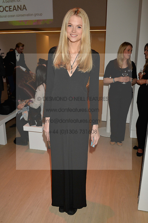 GABRIELLA WILDE at Fashions for The Future presented by Oceana's Junior Council held at Phillips Auction House, 30 Berkeley Square, London on 19th March 2015.