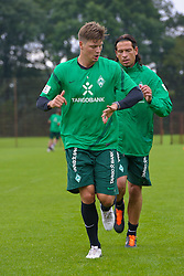 14.07.2011, Platz5, Bremen, GER, 1.FBL, Reha Training Werder Bremen, im Bild Sebastian Prödl / Proedl ( Werder #15) Keeper Tim Wiese ( Werder #01) // during the trainings session on 2011/07/14.  // during trainingsession from Werder Bremen 2011/07/03    EXPA Pictures © 2011, PhotoCredit: EXPA/ nph/  Kokenge       ****** out of GER / CRO  / BEL ******