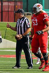21 October 2017:  Jim Scifres & Donavin O'Day during the South Dakota Coyotes at Illinois State Redbirds Football game at Hancock Stadium in Normal IL (Photo by Alan Look)