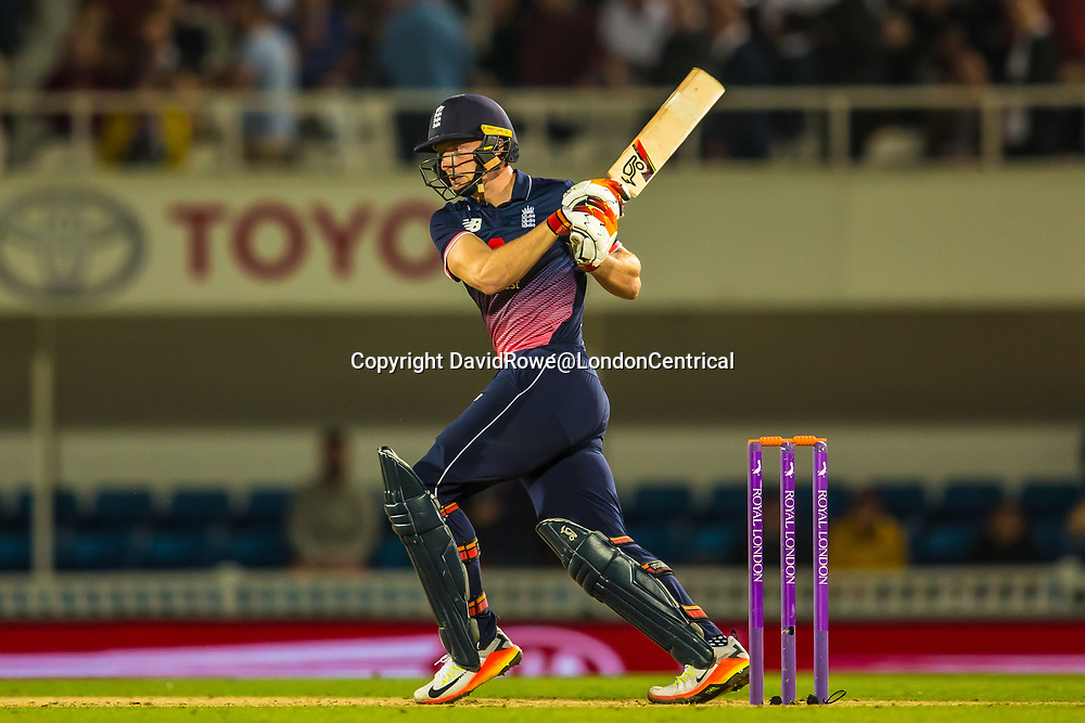 London,UK. 27 September 2017. Jos Butler batting for England. England v West Indies. In the fourth Royal London One Day International at the Kia Oval.