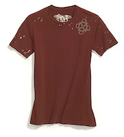 rust colored t-shirt front