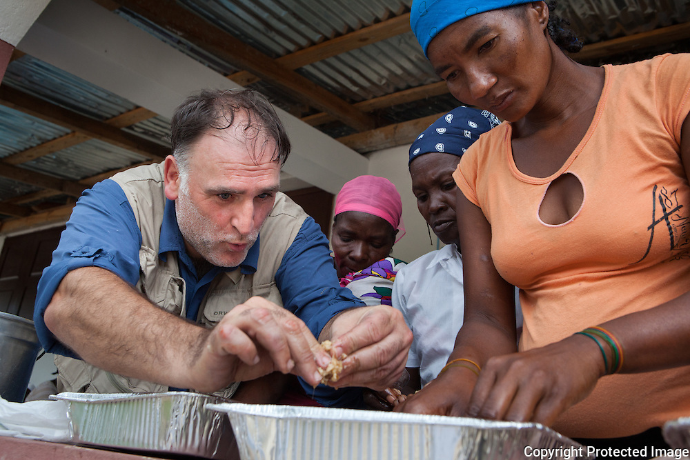 Chef José Andrés cooks with community members at the St. Andre School in Palmiste Tempe, where World Central Kitchen (WCK) is working to build an improved kitchen for local students. Chef Andres demonstrated a solar cooking apparatus and how to cook in a pressure cooker. Sustainable cooking methods include solar kitchens, Lucia Stoves, Liquefied Petroleum Gas and turbo kitchens. Techniques to reduce the use of carbon, which produce hazardous smokes resulting in chronic illnesses, will be promoted throughout all activities. World Central Kitchen recognizes that these technologies can provide innovative solutions but developing countries have limited experience with these technologies.  ..Led by chef José Andrés, WCK is a global organization committed to ending world hunger. WCK believes in a future free from world hunger. To that end, WCK promotes long-term sustainable solutions where creativity and innovation are at the forefront...