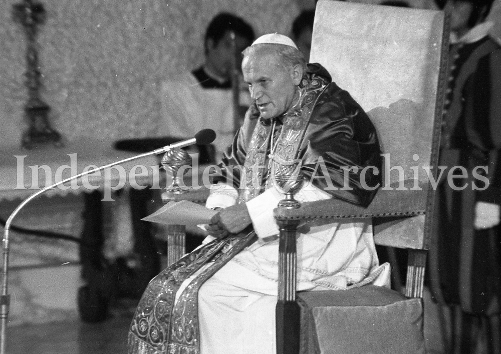 Pope John Paul II in Rome, 30/06/1979 (Part of the Independent Newspapers Ireland/NLI Collection).