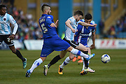 Gillingham defender Max Ehmer during the Sky Bet League 1 match between Gillingham and Shrewsbury Town at the MEMS Priestfield Stadium, Gillingham, England on 23 April 2016. Photo by Martin Cole.