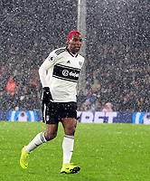 Football - 2018 / 2019 Premier League - Fulham vs. Brighton & Hove Albion<br /> <br /> Ryan Babel of Fulham in the snow and rain, at Craven Cottage.<br /> <br /> COLORSPORT/ANDREW COWIE