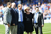 New Portsmouth owner Michael Eisner with his family during the EFL Sky Bet League 1 match between Portsmouth and Rochdale at Fratton Park, Portsmouth, England on 5 August 2017. Photo by Daniel Youngs.