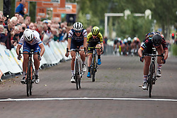 Top three in the sprint: Lisa Klein (GER), Amy Pieters (NED) and Lizzie Deignan (GBR) at Boels Ladies Tour 2019 - Stage 3, a 156.8 km road race starting and finishing in Nijverdal, Netherlands on September 6, 2019. Photo by Sean Robinson/velofocus.com