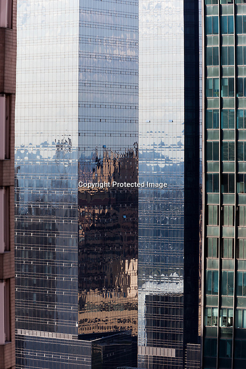 New York . time warner twin towers  midtown  cityscape  skyscrappers , view from above  New York - United states / les tours jumelles time warner, panorama  les buildings de midtown New York - Etats unis