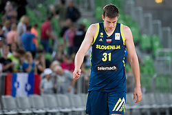 Vlatko Cancar of Slovenia during basketball match between Slovenia and Montenegro in Round #6 of FIBA Basketball World Cup 2019 European Qualifiers, on July 1, 2018 in Arena Stozice, Ljubljana, Slovenia. Photo by Urban Urbanc / Sportida