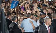 President Obama greets supporters following a rally at Ohio University in Athens, Ohio. Photo by Ben Siegel/ Ohio University
