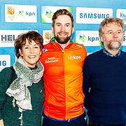 NLD/Amsterdam/20180119 - Inloop premiere Hyena's op het IJs, Daan Breeuwsma en ouders