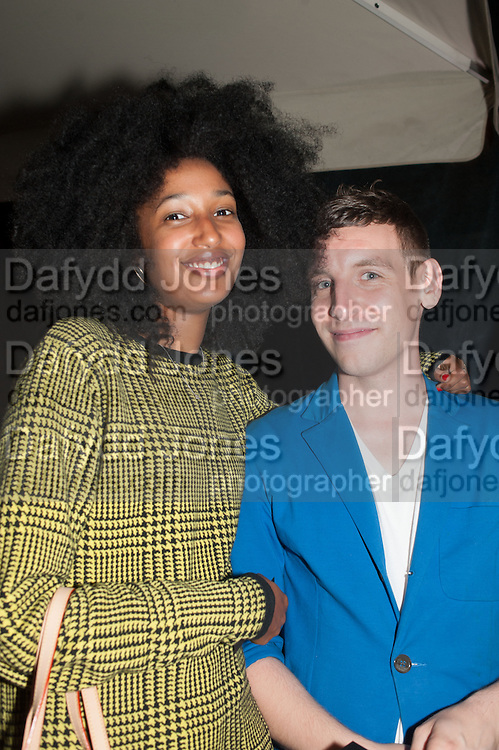 Julia Sarr-Samois; ADAM WELCH, Dinner to celebrate the opening of the first Berluti lifestyle store hosted by Antoine Arnault and Marigay Mckee. Harrods. London. 5 September 2012.