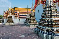 temple interior details Wat Pho temple Bangkok Thailand