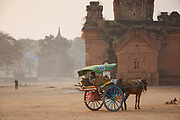 Horse and trap taxi service, Bagan, Manmar