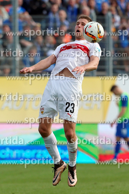 02.04.2016, Merck Stadion am Boellenfalltor, Darmstadt, GER, 1. FBL, SV Darmstadt 98 vs VfB Stuttgart, 28. Runde, im Bild Artem Kravets (23)/ VfB Stuttgart // during the German Bundesliga 28th round match between SV Darmstadt 98 and VfB Stuttgart at the Merck Stadion am Boellenfalltor in Darmstadt, Germany on 2016/04/02. EXPA Pictures &copy; 2016, PhotoCredit: EXPA/ Eibner-Pressefoto/ RRZ<br /> <br /> *****ATTENTION - OUT of GER*****