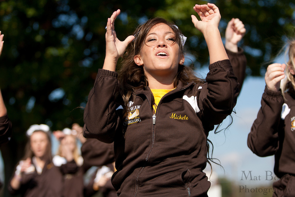 Rowan University Cheerleaders at the Rowan University Homecoming Parade on Saturday October 2, 2011. (Photo / Mat Boyle)