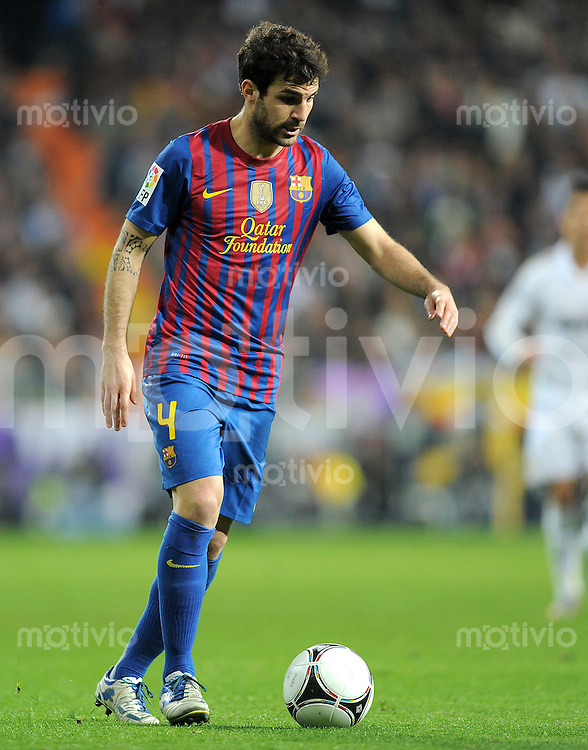 FUSSBALL  INTERNATIONAL  Copa del Rey  1/4  FINALE  2011/2012   18.01.2012 Real Madrid - FC Barcelona  Cesc Fabregas (Barca)