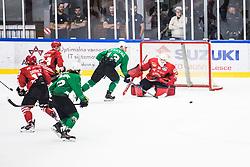 KOGOVSEK Ziga vs CHVATAL Aljaz during the match between HDD Jesenice vs HK SZ Olimpia at 16th International Summer Hockey League Bled 2019 on 24th August 2019. Photo by Peter Podobnik / Sportida