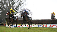 Plumpton, UK. 12th December 2016. <br /> Race winner Theinval ridden by Barry Geraghty (Yellow) clears an early fence followed by Theo's Charm and Tom Cannon  during the SIS Novices&acute; Chase<br /> &copy; Telephoto Images / Alamy Live News