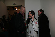 Wolfgang Tillmans, Sue Webster and Michael Bracewell, The Secret public/The Last Days of the British Underground. 1978-1988. I.C.A. London.  21 March 2007.  -DO NOT ARCHIVE-© Copyright Photograph by Dafydd Jones. 248 Clapham Rd. London SW9 0PZ. Tel 0207 820 0771. www.dafjones.com.