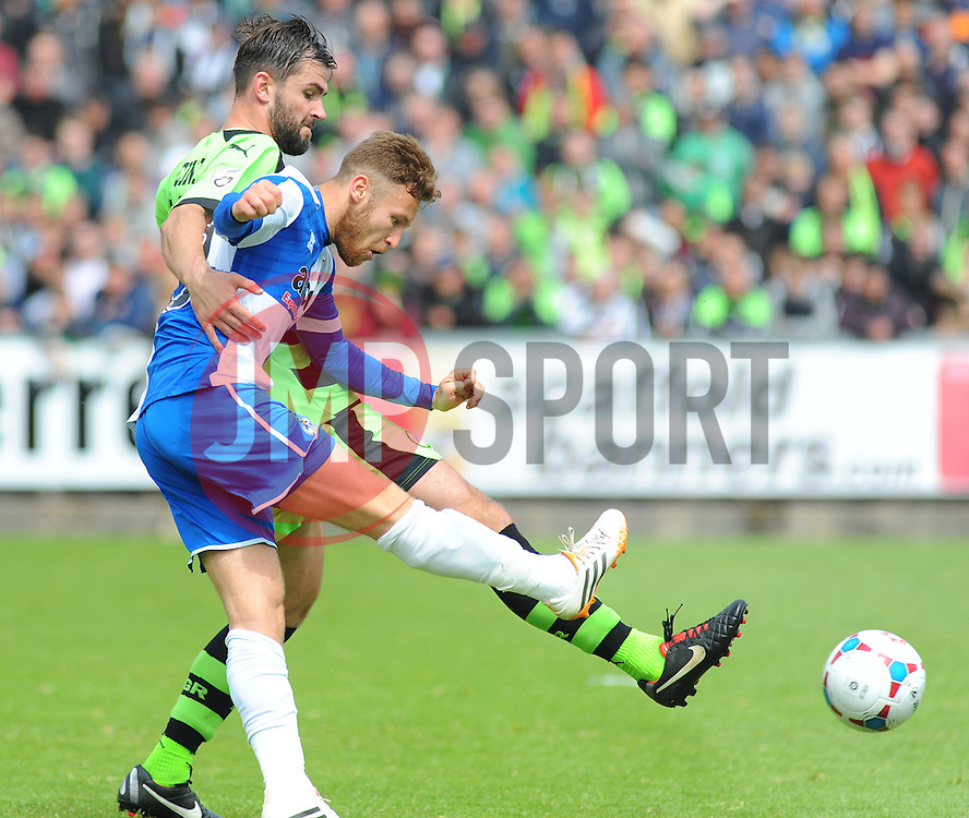 Bristol Rovers' Matt Taylor scores the second goal- Photo mandatory by-line: Nizaam Jones /JMP - Mobile: 07966 386802 - 03/05/2015 - SPORT - Football - Bristol - Memorial Stadium - Bristol Rovers v Forest Green Rovers - Vanarama Football Conference.