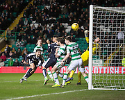 Dundee&rsquo;s Kostadin Gadzhalov comes within inches of winning the match for the Dark Blues - Celtic v Dundee - Ladbrokes Scottish Premiership at Dens Park<br /> <br />  - &copy; David Young - www.davidyoungphoto.co.uk - email: davidyoungphoto@gmail.com