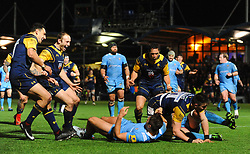 Worcester celebrates Josh Adams of Worcester Warriors first try  - Mandatory by-line: Alex Davidson/JMP - 22/12/2017 - RUGBY - Sixways Stadium - Worcester, England - Worcester Warriors v London Irish - Aviva Premiership