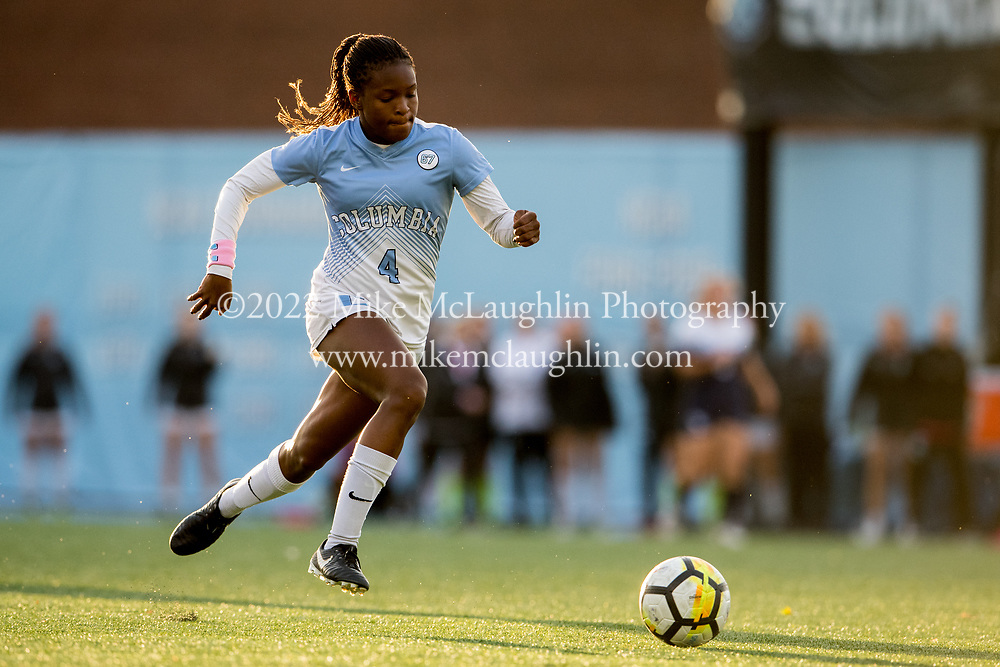 NCAA women's soccer game between Yale and Columbia at Rocco B. Commisso Soccer Stadium in New York, New York on Saturday, Oct 28, 2017. NCAA Women's Soccer between Yale and Columbia.