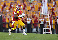 October 01, 2011: Iowa State Cyclones running back Shontrelle Johnson (21) on a run during the first half of the game between the Iowa State Cyclones and the Texas Longhorns at Jack Trice Stadium in Ames, Iowa on Saturday, October 1, 2011. Texas defeated Iowa State 37-14.