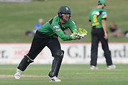 Central Stags Tom Bruce during the Burger King Super Smash T20 cricket match between the Central Stags and the Northern Knights, McLean Park, Napier, Friday, January 25, 2019. Copyright photo: Kerry Marshall / www.photosport.nz