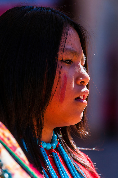 Tewa Dance Troupe (Nambe Pueblo), Indian Pueblo Culture Center, Albuquerque, New Mexico USA.