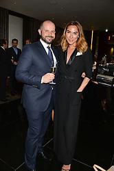 JOSHUA GARDNER and ALEX MEYERS at the Launch Of Alain Ducasse's Rivea Restaurant At The Bulgari Hotel, 171 Knightsbridge, London on 8th May 2014.