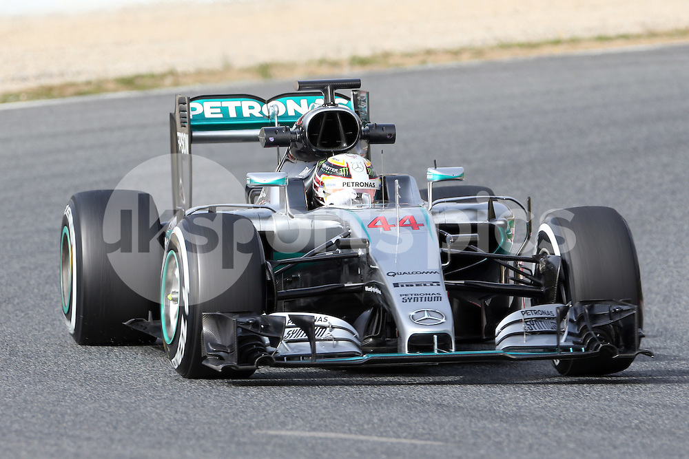 Lewis Hamilton of Mercedes during the Formula 1 Pre Season Testing 2016 at  Circuit de Barcelona-Catalunya, Barcelona, Spain on 23 February 2016. Photo by sync studio.