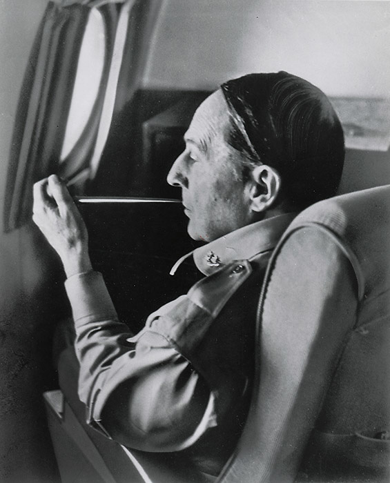 Carl Mydans<br /> LIFE Magazine<br /> General MacArthur during the Korean War 1950<br /> <br /> View of a General Douglas MacArthur during a candid moment on his private plane in the midst of the Korean War. This photo was taken by Mydans while on assignment for Life Magazine in 1950 and was published on page 36 of the October 9, 1950 edition of LIFE.<br /> <br /> Details: <br /> Press print released by the Wartime Picture Pool and circulated via the Associated Press. Near excellent condition, clean sharp, no fading, a very fine example. The only condition issue is two thumb dings in the center right and top center margins<br /> <br /> - Original and vintage gelatin silver print, single weight.<br /> - Size: 6 3/4 x in. x 8 3/8 inches (208 mm x 255 mm).<br /> <br /> Price &yen;30,000 JPY<br /> <br /> <br /> <br /> <br /> <br /> <br /> <br /> <br /> <br /> <br /> <br /> <br /> <br /> <br /> <br /> <br /> <br /> <br /> <br /> <br /> <br /> <br /> <br /> <br /> <br /> <br /> <br /> <br /> <br /> <br /> <br /> <br /> <br /> <br /> <br /> <br /> <br /> <br /> <br /> <br /> <br /> <br /> <br /> <br /> <br /> <br /> <br /> <br /> <br /> <br /> <br /> <br /> <br /> <br /> <br /> <br /> <br /> <br /> <br /> <br /> <br /> <br /> <br /> <br /> <br /> <br /> <br /> <br /> <br /> <br /> <br /> <br /> <br /> <br /> <br /> <br /> <br /> <br /> <br /> <br /> <br /> <br /> .