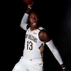 Sep 24, 2018; New Orleans, LA, USA; New Orleans Pelicans forward Cheick Diallo (13) poses for a portrait during Media Day at Ochsner Performance Center. Mandatory Credit: Derick E. Hingle-USA TODAY Sports