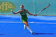 Gillian Pinder of Ireland (15) scores a goal (3-2) to win the shoot out for Ireland during the Vitality Hockey Women's World Cup 2018 Semi-Final match between Ireland and Spain at the Lee Valley Hockey and Tennis Centre, QE Olympic Park, United Kingdom on 4 August 2018. Picture by Martin Cole.