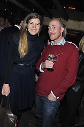 AMBER AIKENS and JAMIE PELLY at the launch party for the new nightclub Tonteria, 7-12 Sloane Square, London on 25th October 2012.