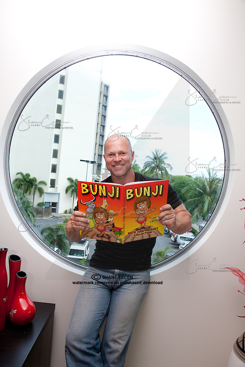 Shane Stringer, Cartoonist, BUNJI. Photo Shane Eecen